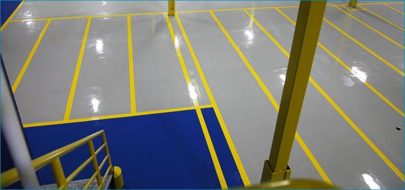 Layanan Raja Epoxy untuk pengecatan safety line marking