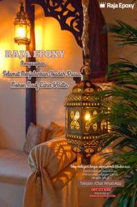 Raja Epoxy mengucapkan Marhaban ya Ramadhan 1441 H